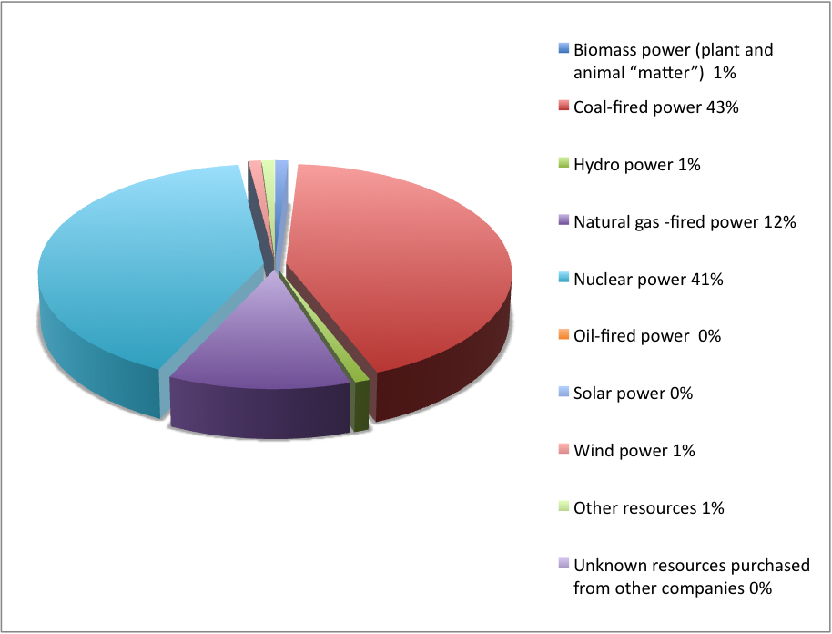 ComEd Electricity Source Breakdown