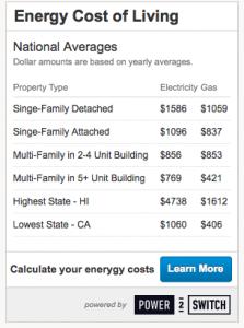 cost of living widget