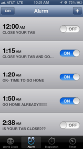 Bartab Alarm